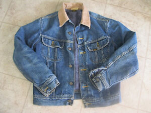 "Vintage Lee Blanket Lined Blue Jean Jacket "" SWEET """