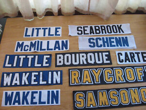 NHL JERSEY NAME BARS ASSORTED $10.00 EACH OR $50 FOR ALL Cambridge Kitchener Area image 4