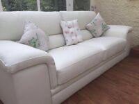 Off white leather sofas