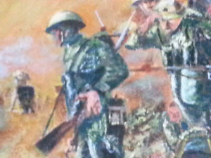 WWII Canadian Army Soldier ORIGINAL OIL PAINTING Signed