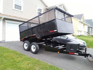 ((SPECIAL)) 10000 POUND DUMP TRAILER 7x12 4FT SIDES ONLY 1 LEFT