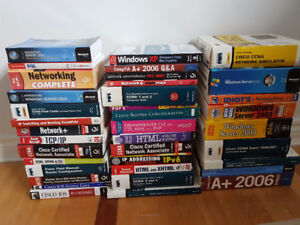 Huge lot of computer and web books.