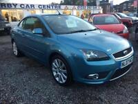 2007 FORD FOCUS CC 2.0 CC 3 2dr CONVERTIBLE FULL LEATHER MASSIVE SPEC LOW MILES