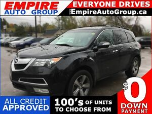 2011 ACURA MDX AWD * LEATHER * SUNROOF * REAR CAM * NAV * DVD *  London Ontario image 1