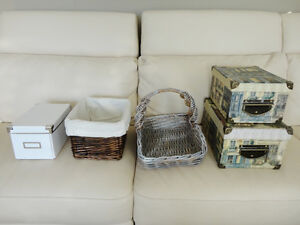 Assorted Storage Baskets & Decorative Boxes (All priced below) Kitchener / Waterloo Kitchener Area image 2