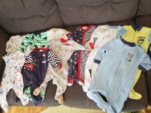 Baby boy sleepers 3-6 and 6 month