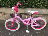 "Girls pink 16"" bike for sale"