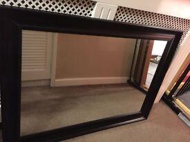 Black plastic surround mirror