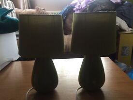 Pair of Green Lamps £10