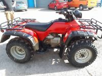 Honda quad bike 4x4 road registered.with log book