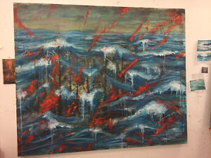 5ft x 6ft Oil painting on stretched Canvas