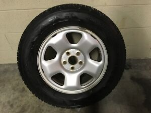 245-65-17 WINTER TIRES & HONDA PILOT RIMS - 70% TREAD -EXC. COND