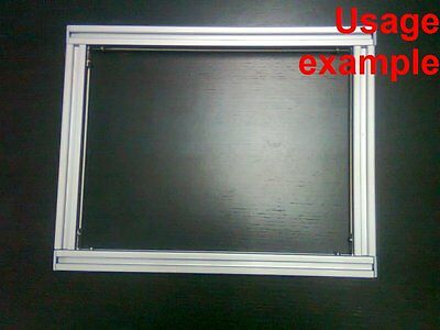 Aluminum T-slot Extruded Profile 20x20-6mm Rectangular Frame Size 300x240mm
