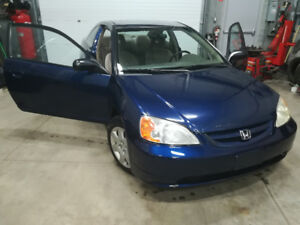 2002 Honda Civic Coupe (2 door) SAFETY AND ETESTED