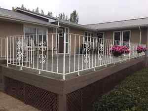 Solid Steel Patio Rail