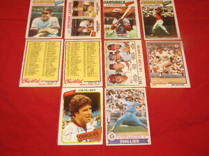 60 near mint OPeeChee baseball commons, minor stars from 1975-80