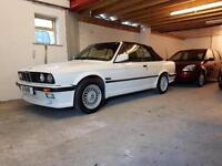 1990 G BMW 325I AUTO CONVERTIBLE E30 ALPINE WHITE FULL M TECH ONE KIT