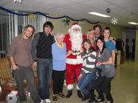Service de Père Noel, livraison cadeau, crsss centre d'accueuil