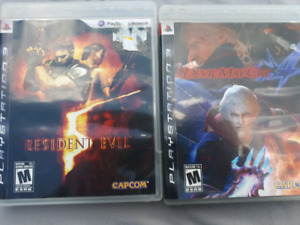 PS3 GAMES: RESIDENT EVIL & DEVIL MAY CRY