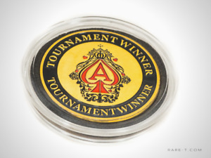 24K Gold plated 'TOURNAMENT WINNER-POKER CHIP CARD GUARD'