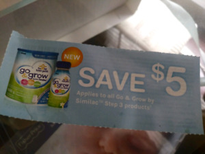 Similac go & grow step 3 coupons $100 value
