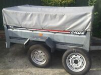 6ft by 4ft Erde 192 tipping trailer + extension kit (both ends drop) all extras