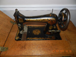 Antique Singer Treadle Sewing Machine with desk