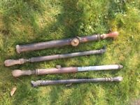 Selection of old hand pumps