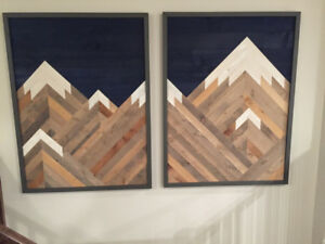 Rustic Mountain Reclaimed Wall Art