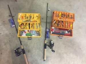 Children's Fishing kits with new rod and reel. $40 each