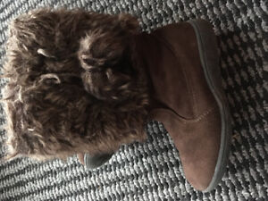 Bottes pour petite fille, tuque d'hiver, habit de neige, manteau