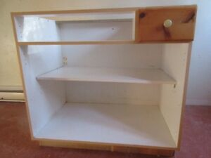 Section of kitchen cabinet.
