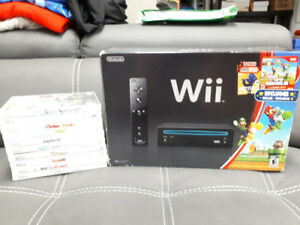 Nintendo Wii in Original Box with 10 Games