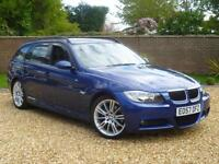 2007 57, BMW 320d 2.0TD d M Sport Touring estate ++ LE MANS BLUE + LEATHER