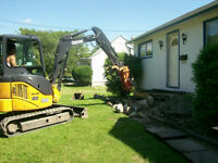 mini excavator,track loaders,tandem dumptrucks for hire