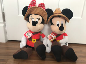 Mickey and Minnie Mouse RCMP
