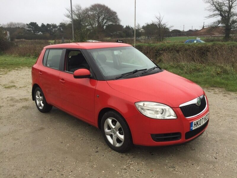skoda fabia 2 1 2 htp 70 red 5dr 2007 in newquay cornwall gumtree. Black Bedroom Furniture Sets. Home Design Ideas