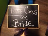 Chalkboard sign for wedding (or other event)