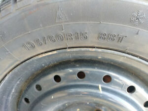 """15"""" winter tires with rims"""