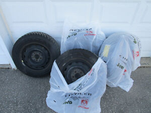 Complete Set of Winter Tires with Rims