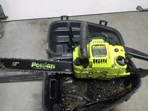 Selling almost new chain saw