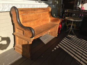 Antique Pine Church Pew - the real deal