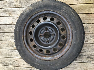 One winter tire on rim Blizzak 175/65/14