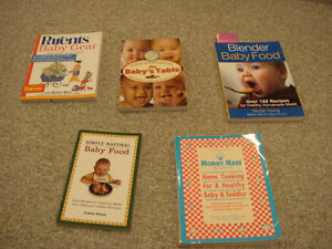 Lot of five baby nutrition books