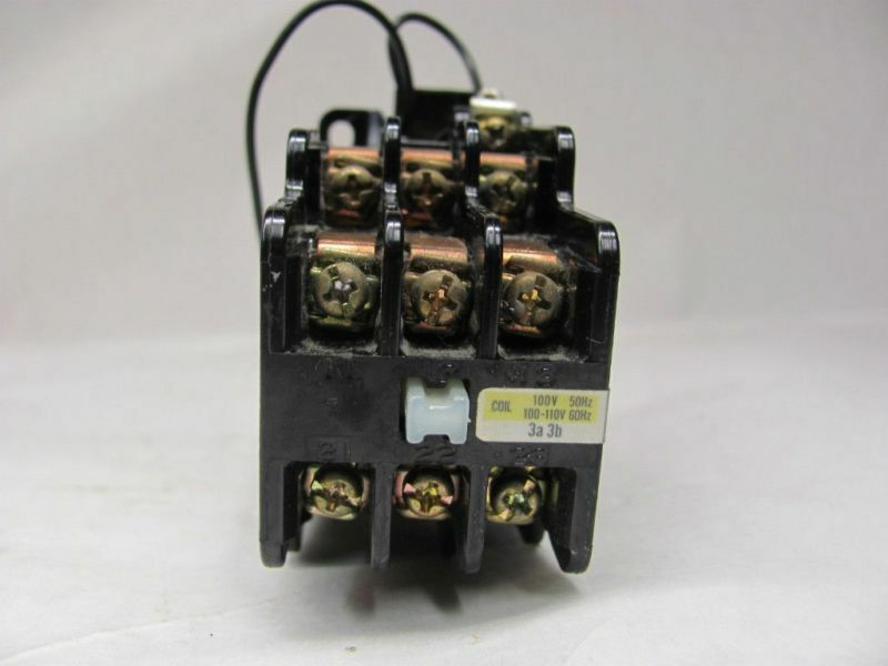 HITACHI, LTD. 26D89 AC CONTACTOR RELAY 600VAC  100-110V 50/60Hz COIL USED
