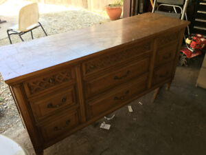 Beautiful Wood Antique Dresser / Sideboard