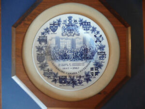 1867 - 1967 CANADA CONFEDERATION CENTENIAL PLATE