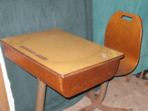 Antique Child's Desk and Chair