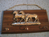 Vintage Horse Themed Wall Hung Key Holder