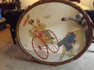 Hand painted hotel mirror from fraser canyon